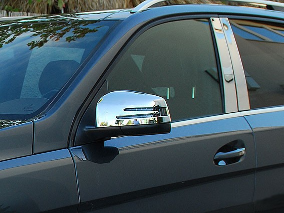 Chrome mirror covers - Mercedes ML W166