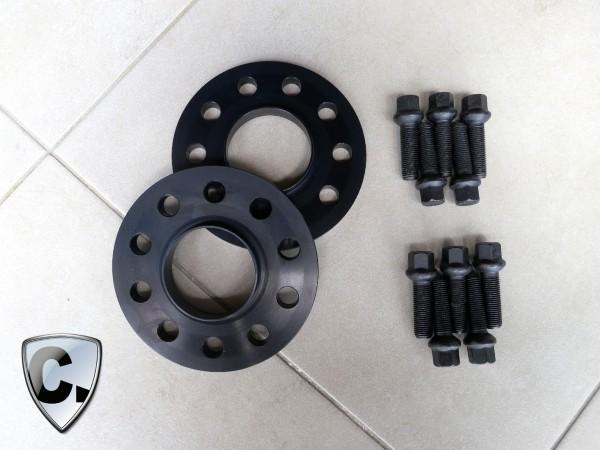 Spurverbreiterungen 30mm Vorderachse für Mercedes C63 AMG Coupe / Cabrio