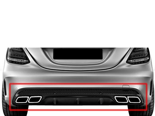C63 AMG Heckumrüstung Nightblack für Mercedes Benz C-Klasse W205 AMG Style