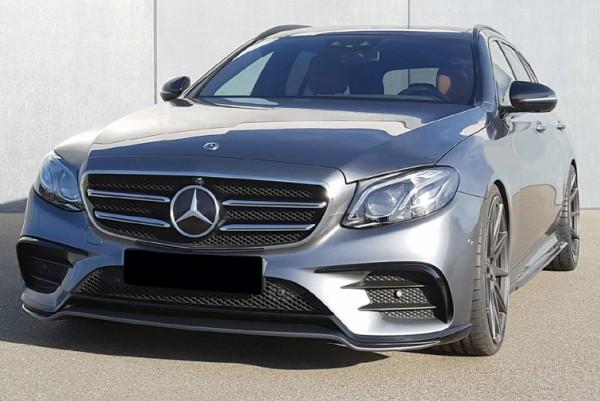 Frontspoilerlippe mit Racing Flics für Mercedes E-Klasse Limousine und T-Modell W213 mit AMG-Line
