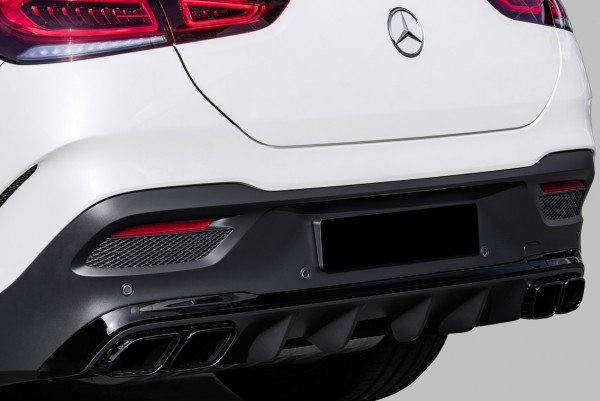 Mercedes GLE Coupe C167 rear upgrade 63 AMG siver chrome