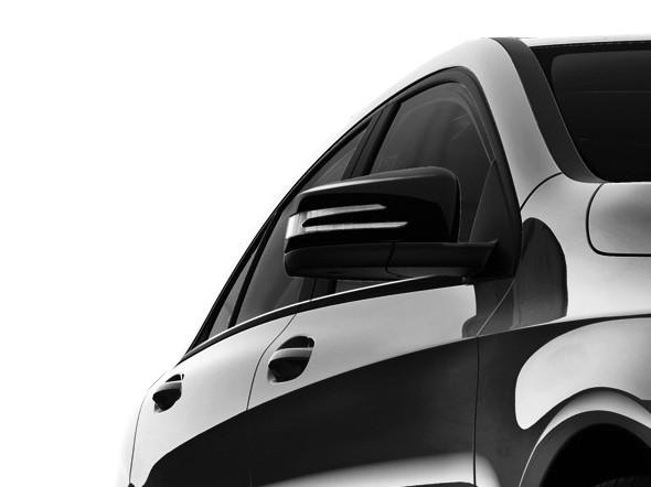 Schwarze Spiegelkappen, Blackline - Mercedes A-Klasse W176