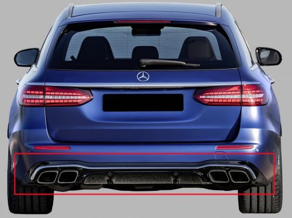 E63 AMG Heckumrüstung Chrom für Mercedes E-Klasse T-Modell S213 Facelift AMG-Line