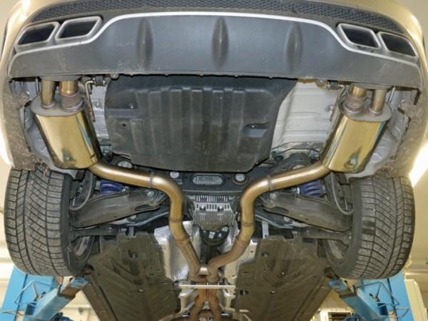 Sportauspuff für Mercedes C63 AMG und C63 AMG S Limousine mit Klappensteuerung