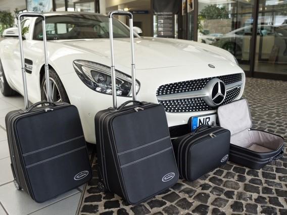 Roadster-Bag Kofferset schwarz für Mercedes AMG GT Coupe Vor-Facelift und Facelift