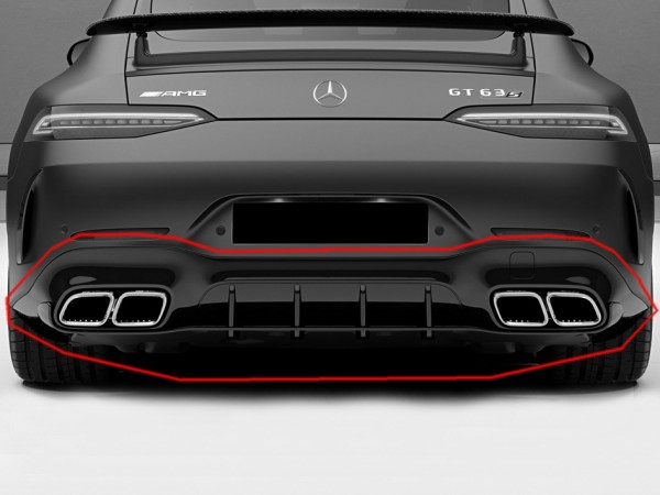 Rear Diffusor Edition 1 Aero-Package black for Mercedes AMG GT43 and 53 4 X290