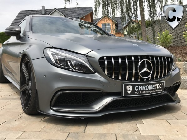 Grille Panamericana Style silver for Facelift C-Class Coupe and Convertible without 360 Degree Camera